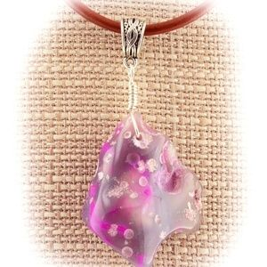 Cowgirl Bling Pink Dyed Agate Wire Wrap Necklace